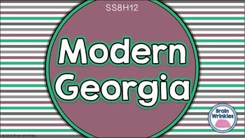 This 45-page file is a presentation that explains the importance of significant social, economic, and political developments in Georgia since 1970 (as outlined by the Georgia Performance Standard – SS8H12). The presentation includes notes and images related to this standard. There are also several printables and activities included that are perfect for your students' Social Studies Interactive Notebooks!