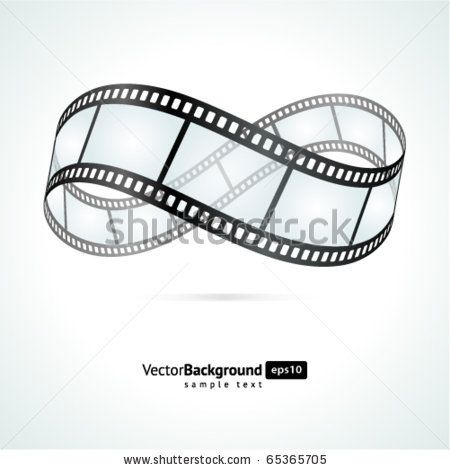 Film strip infinity vector background by VikaSuh, via ShutterStock