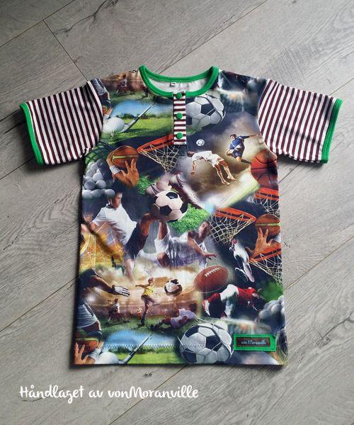 T-skjorte med knappestolpe. Mønster fra Heilt Spesielt sin nye bok.