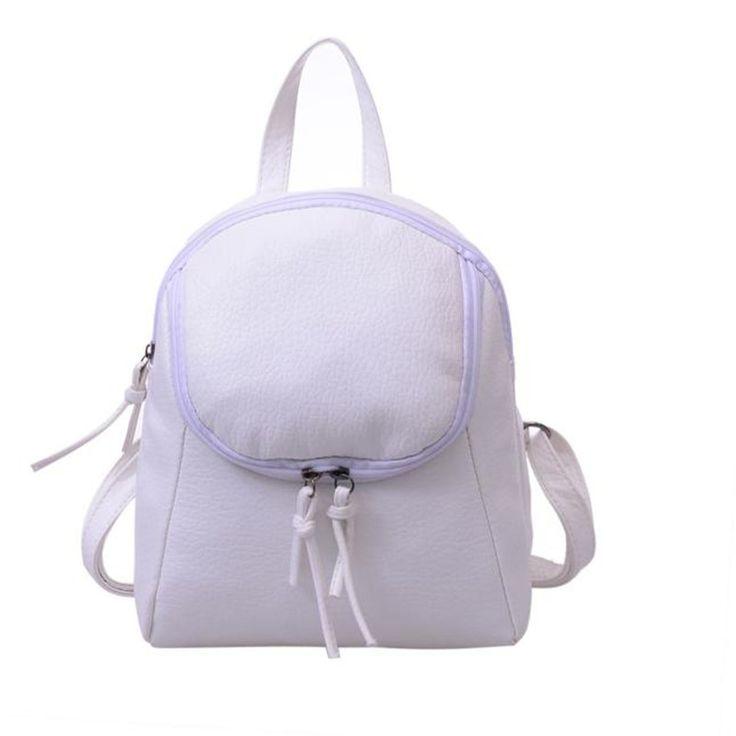 Leisure Women Backpack Waterproof PU Leather Schoolbag Rucksacks for Women Girl Small Travel Backpack Bolsa Feminina wholesale  #Affiliate