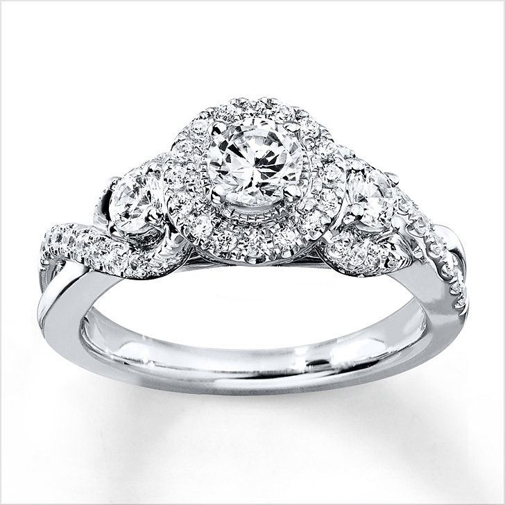 If You\'re Thinking 3 Is Way Better Than 1. 3 Diamond Engagement RingsKay ...