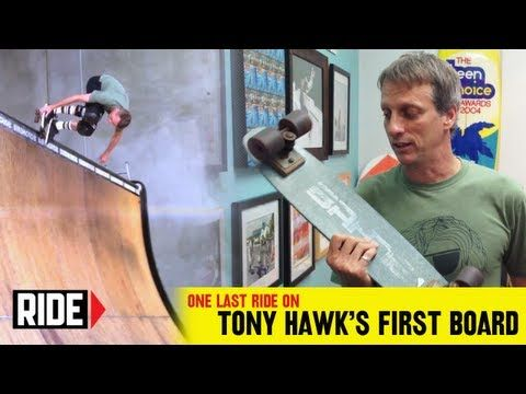 Tony Hawk's Final Ride On His Very First Skateboard | Awesome how his first is similar to my first, though I'm a '90s kid.