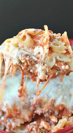 Bow Tie Pasta Lasagna