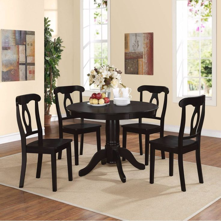 17 Best Ideas About Black Dining Room Sets On Pinterest