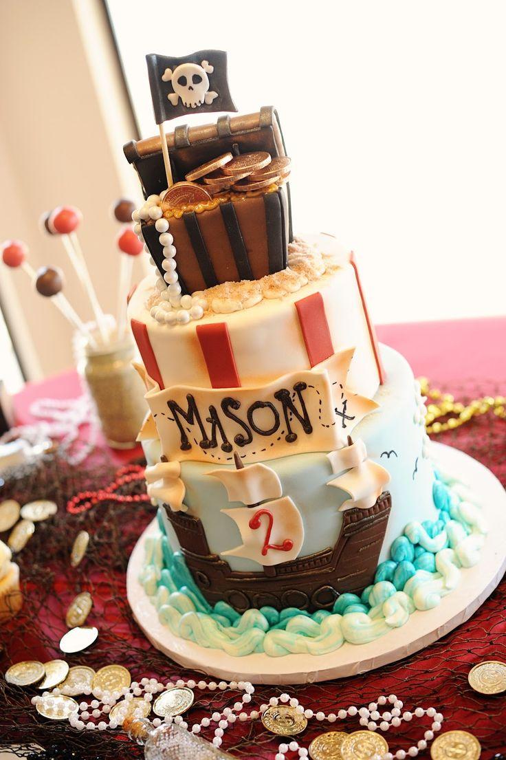 Cake ideas on pinterest pirate cakes marshmallow fondant and - Pirate Cake