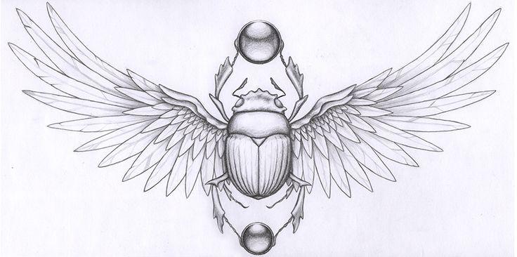 Resultado de imagem para beetle egyptian tattoo