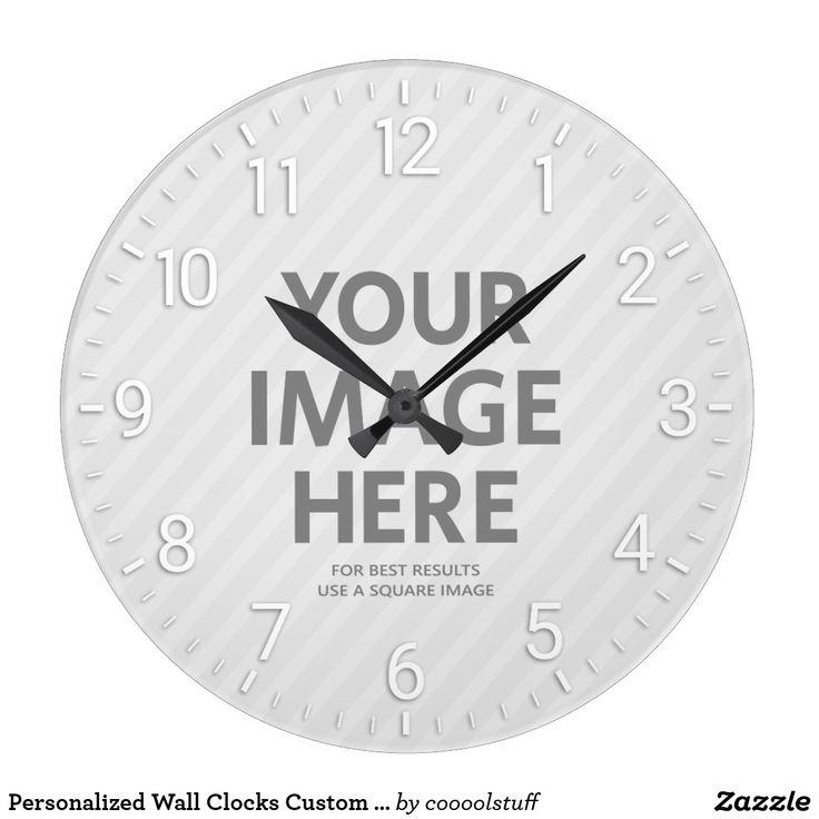 Personalized Wall Clocks Custom Big Round Photo