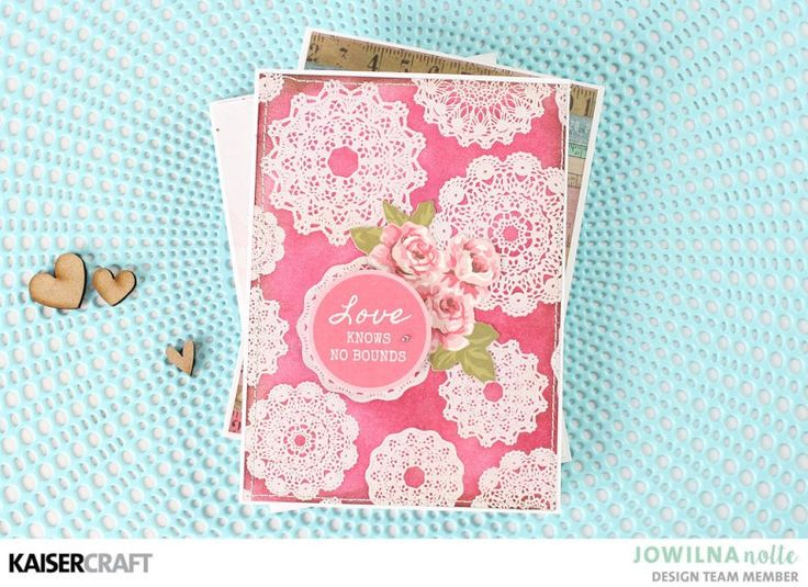 """""""Love Knows No Bounds"""" Hand Made Card Inspiration [view A] by Jowilna Nolte Design Team member for Kaisercraft Official Blog  featuring """"Miss Betty"""" collection. Learn more at kaisercraft.com.au - Wendy Schultz - Kaisercraft Projects."""