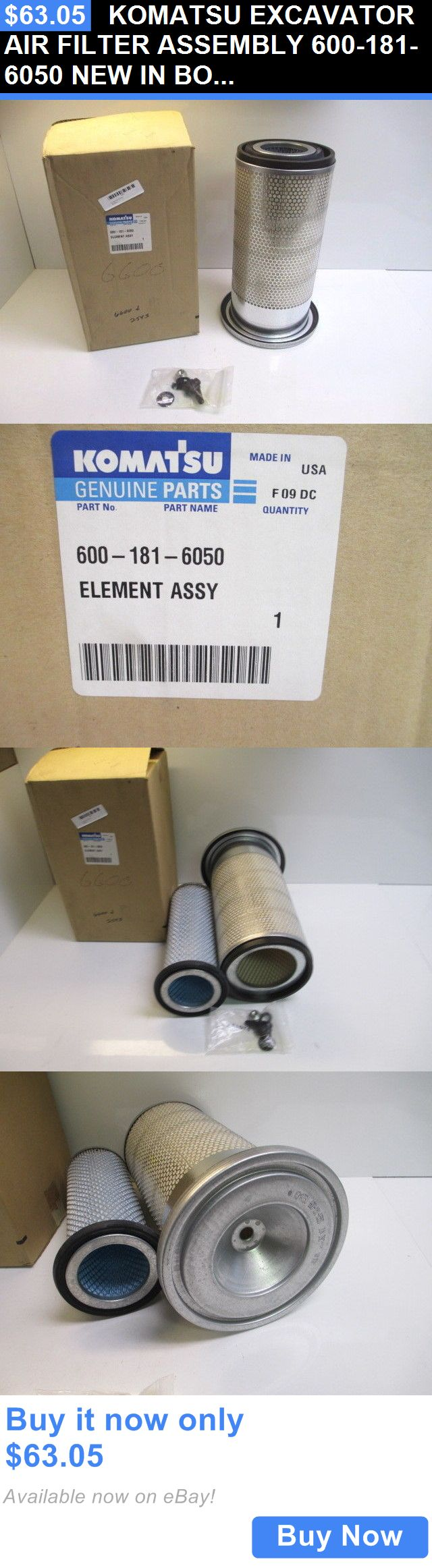 heavy equipment: Komatsu Excavator Air Filter Assembly 600-181-6050 New In Box Heavy Equipment BUY IT NOW ONLY: $63.05