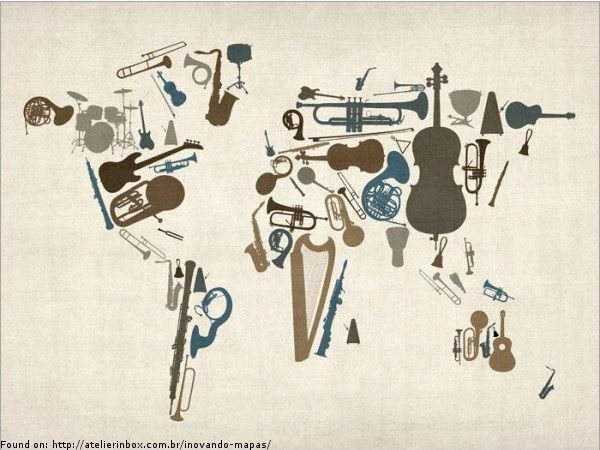 map made of classical instruments
