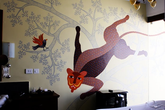 Pure Ghee Designs: Interiors. gond on wall