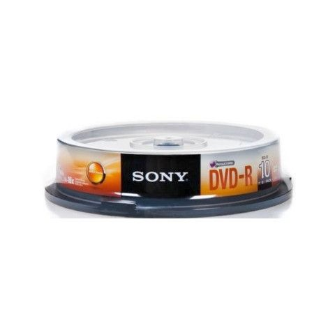 DVD-R SONY  pack 10dvd  4.7GB  16x