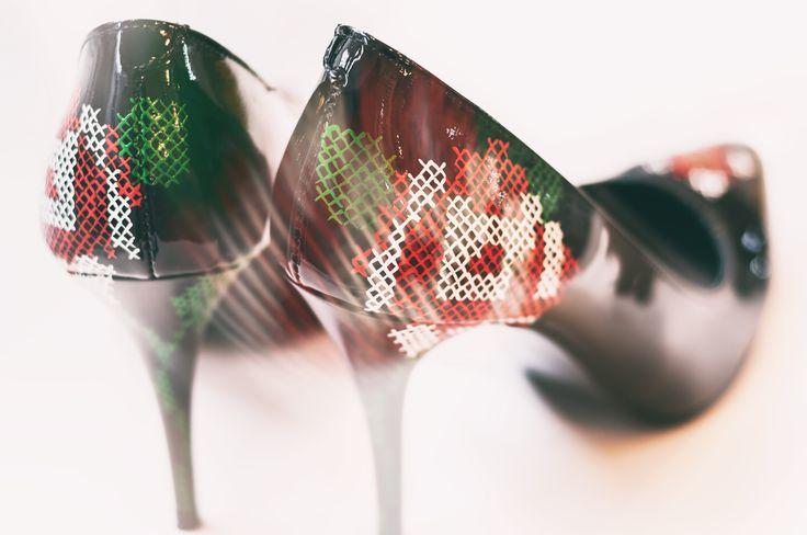 Handpainted stiletto by Diane Marie