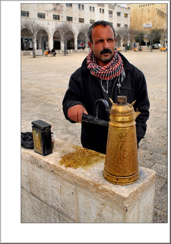 Palestinian Coffee seller - Bethlehem, West Bank