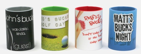 Coolaz [koozies] stubby holders for your bachelor party!