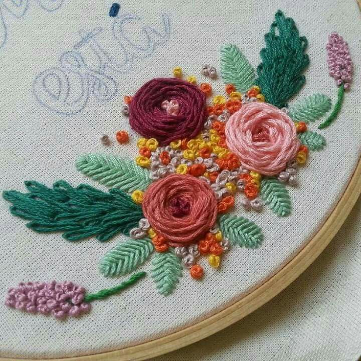 610 best wool embroidery images on pinterest embroidery for Hand thread painting tutorial
