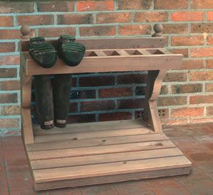 Wooden Wellington Boot Rack