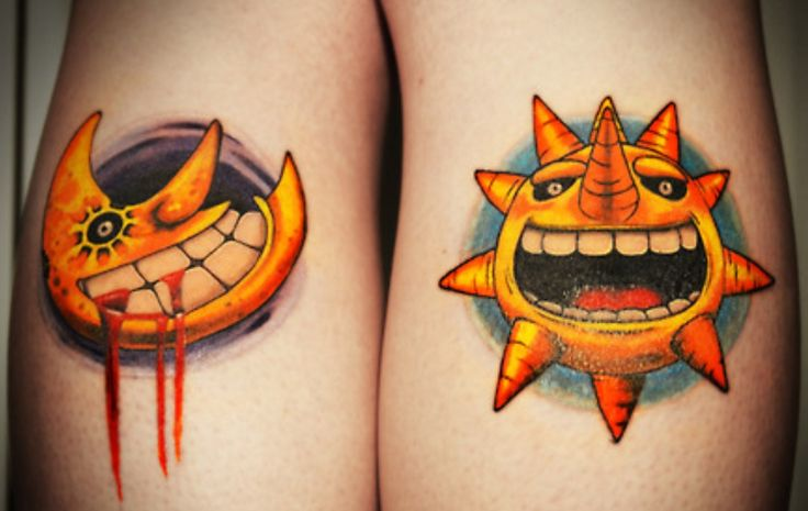 The moon and the sun soul eater tattoos beast!
