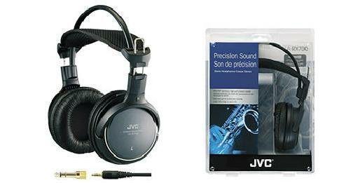 JVC Full Precision Sound 50mm Stereo Headphones 8Hz-25KHz 11.48 Foot Cord #JVC #FullSizedHeadphones