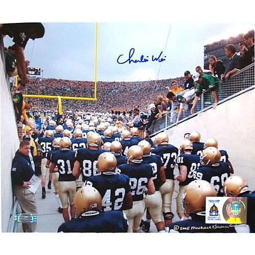 "Steiner Sports Charlie Weis Watching Team Walk out of Tunnel Autographed 8"" x 10"" Photo"