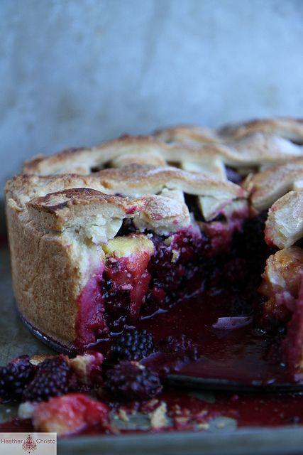 Deep Dish Blackberry Peach Pie by Heather Christo, via Flickr @Heather Creswell Christo