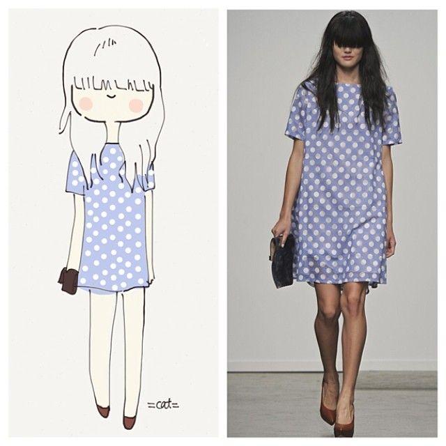 Karen Walker. Shift dress and polka dots. Best :). catplusmouse …