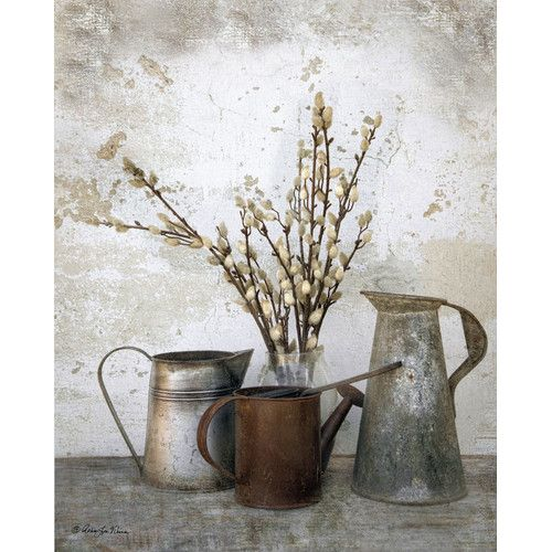 Found it at Joss & Main - Three Watering Cans Canvas Print
