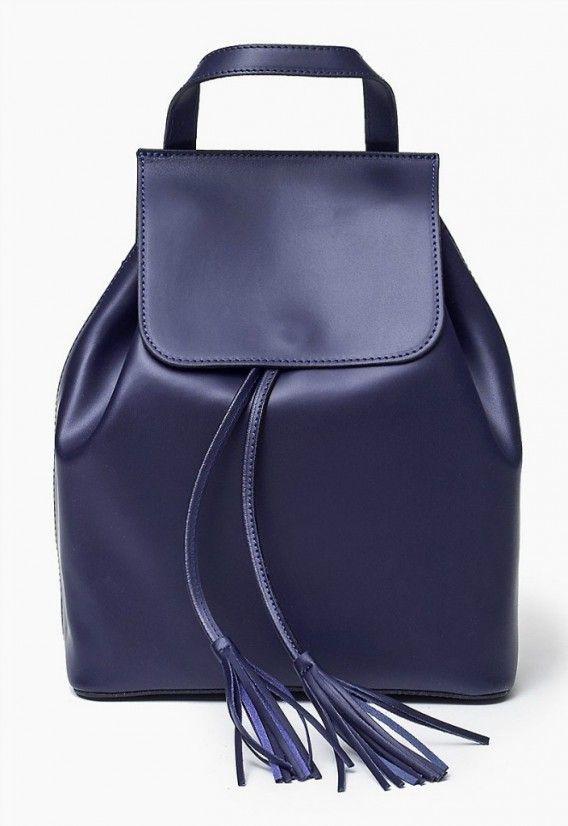 100 % skórzana Włoska Torba Plecak Granat Oryginalna torba damska (plecak) włoskiej produkcji (Vera Pelle) wykonana ze skóry naturalnej najwyższej jakości. Skóra gładka, miła w dotyku. Nie odkształca się i nie zagina, dzięki czemu przez cały czas ma niezm