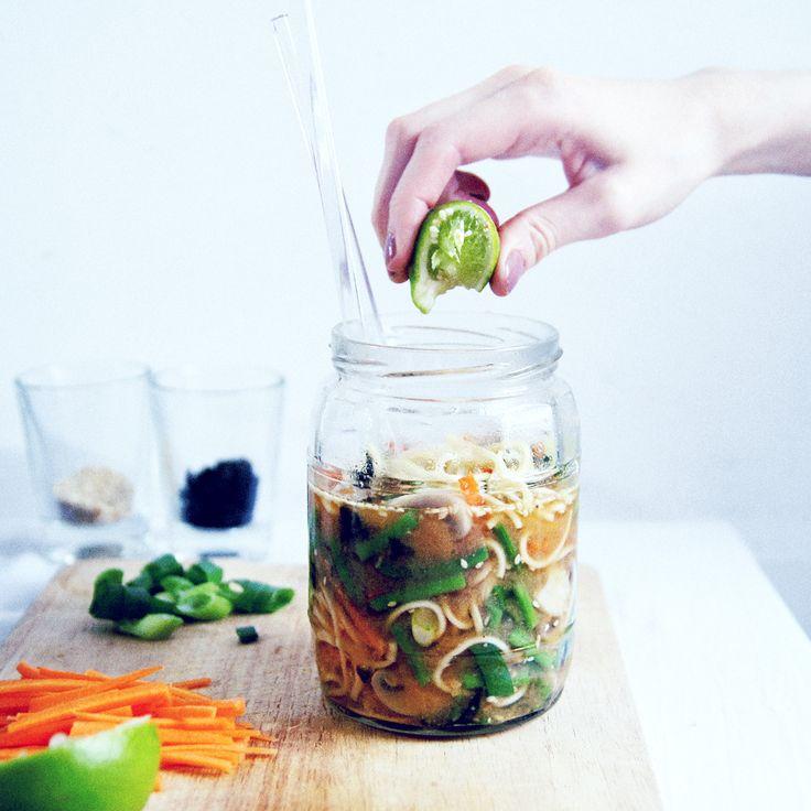 RECIPE : vegan instant ramen in a jar | the edgy veg recipe swap | jenny mustard