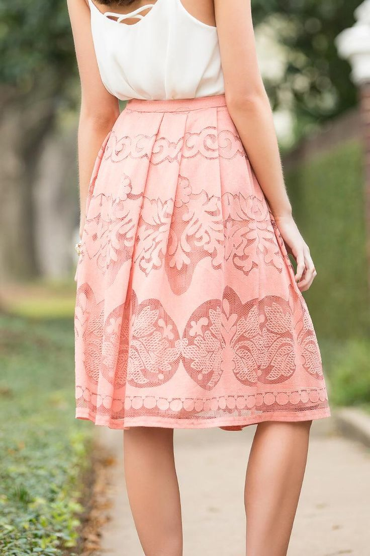 Lola Lace Midi Skirt-  cora-clback