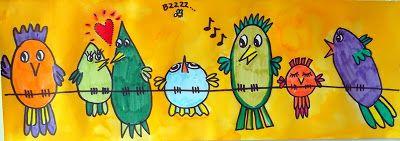 Tekenpraktijk De Innerlijke Wereld: Pauwen, Rijtje Vogels en Perspectief