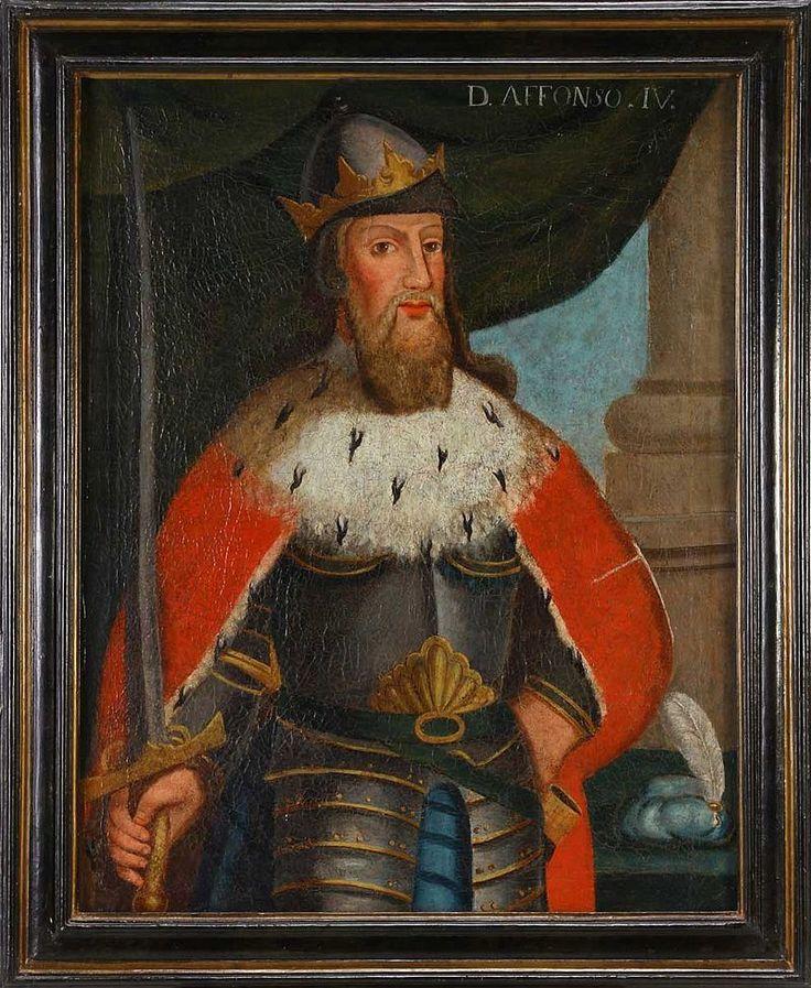 Dom Afonso IV o Bravo setimo Rei de Portugal, era filho de Dom Dinis I, e da Rainha Santa Isabel de Aragão, nasceu em Lisboa a 08 de Fevereiro de 1290 e morreu em Lisboa a 08 de Maio de 1357. Casou com Dona Beatriz de Castela em 1309.