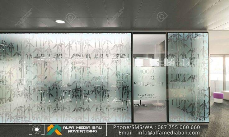 Mockup Sticker sandblast di bali | Alfa Media Bali