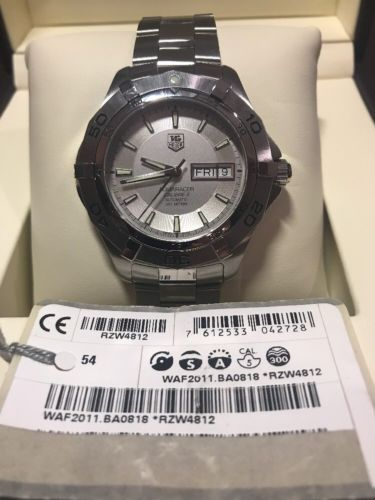TAG HEUER AQUARACER CALIBRE 5 (PRE-OWNED WITH TAG MINT EXCELLENT CONDITION)