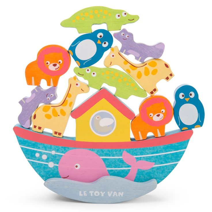 Noah's balancing ark is ideal for kids to learn their animals and learn the art of balancing and stacking object with these colourful pieces.