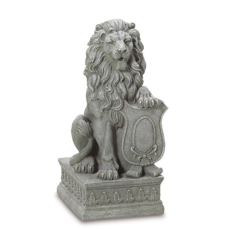 2 Regal Lion Entryway Or Garden Guardian Statue Outdoor