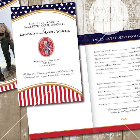 Eagle Scout Court of Honor Program printable 8 by JoyfulPrintables