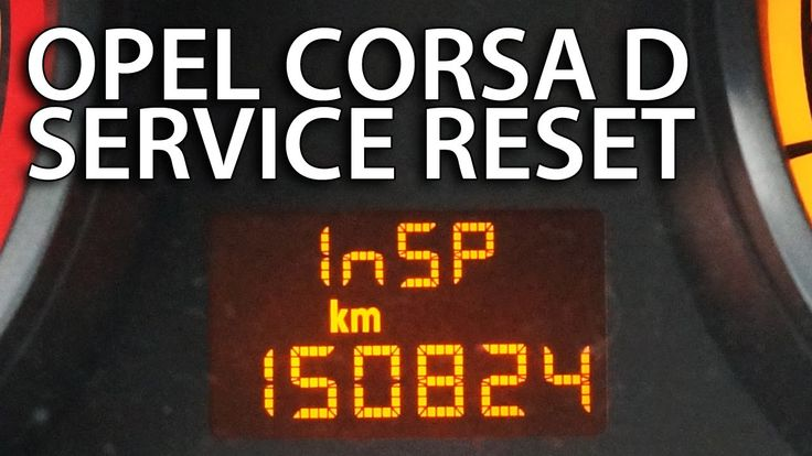 How to reset service inspection #Opel #Corsa D (InSP #Vauxhall maintenance)