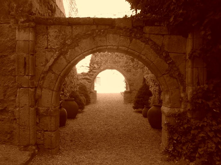 Castillo Arco románico de muro original.
