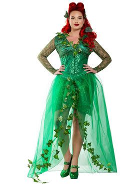 check out womens sexy curvy ivys poison costume sexy plus size halloween costumes from anytime costumes - Green Halloween Dress
