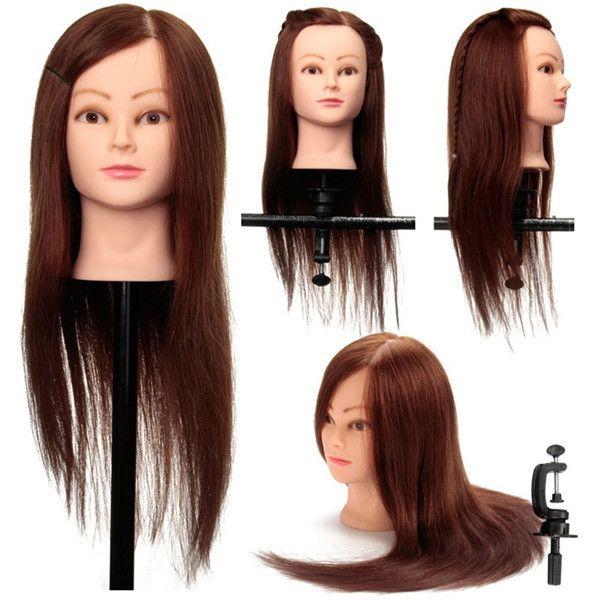 café 100% de peluquería soporte de sujeción práctica verdadera formación humana de corte de pelo cabeza de maniquí