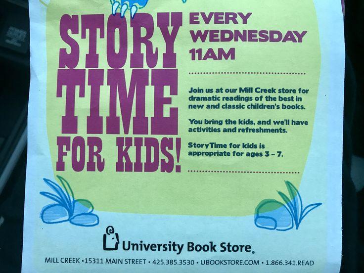 Mill creek UW bookstore kids story time