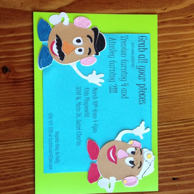 22 best Mr Potato Head Party images – Mr Potato Head Birthday Card