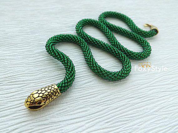 snake jewelry green snake necklace animal necklace wife #snakenecklace #greennecklace #wifegift