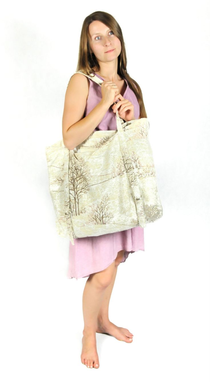 Big  Eco Free Style Bag from recycling fabric. by StudioNamaste on Etsy