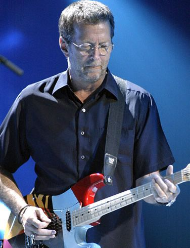 Eric Clapton....is an English guitarist and singer-songwriter. Clapton is the only three-time inductee to the Rock and Roll Hall of Fame: once as a solo artist, and separately as a member of The Yardbirds and Cream. Clapton has been referred to as one of the most important and influential guitarists of all time.