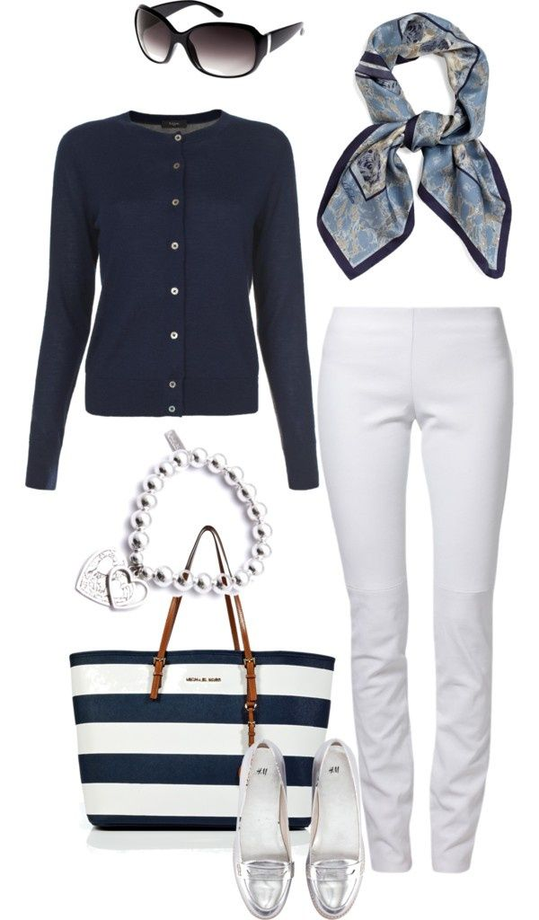 Love my blue too... And the white jeans w/the metallic shoes!!!