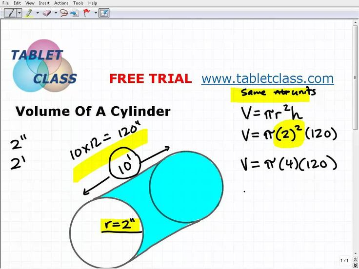 how to find volume of segment of cylinder