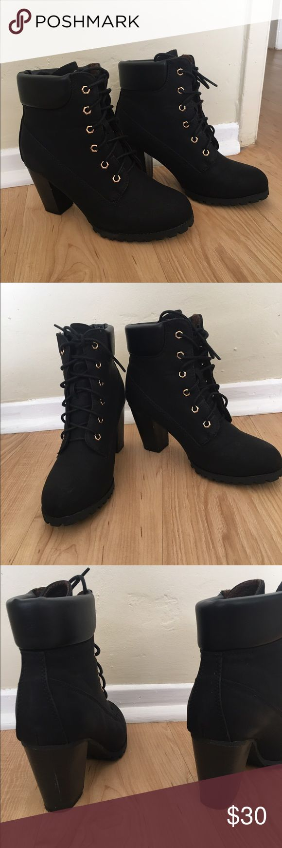 Bella Marie size 7 Ankle booties, all black, used-flaws shown in pictures, all black Shoes Ankle Boots & Booties