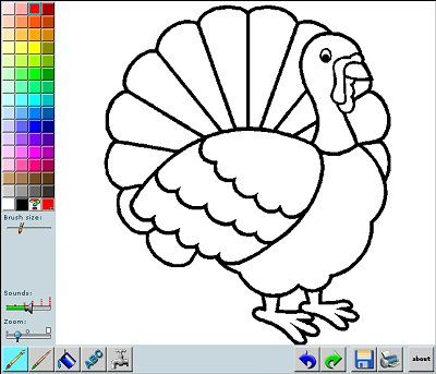 Color Thanksgiving Pictures Online With This Fun Coloring App You Can Print The Pages